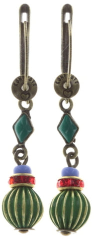 earring dangling Oriental Bliss multi antique brass