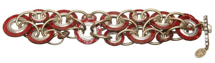 bracelet Eternal Rings red antique brass