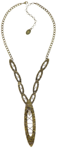 necklace Mad Max beige antique brass