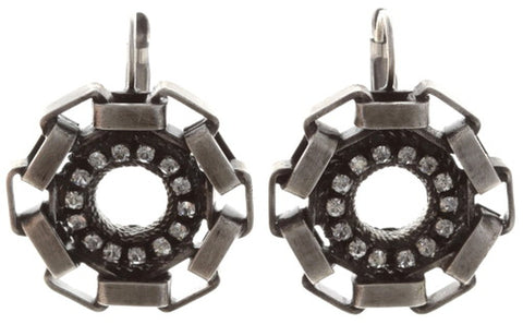 earring eurowire Rock 'n' Glam white antique silver