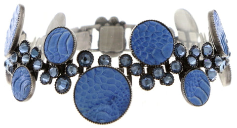 bracelet Planet River dark blue antique silver