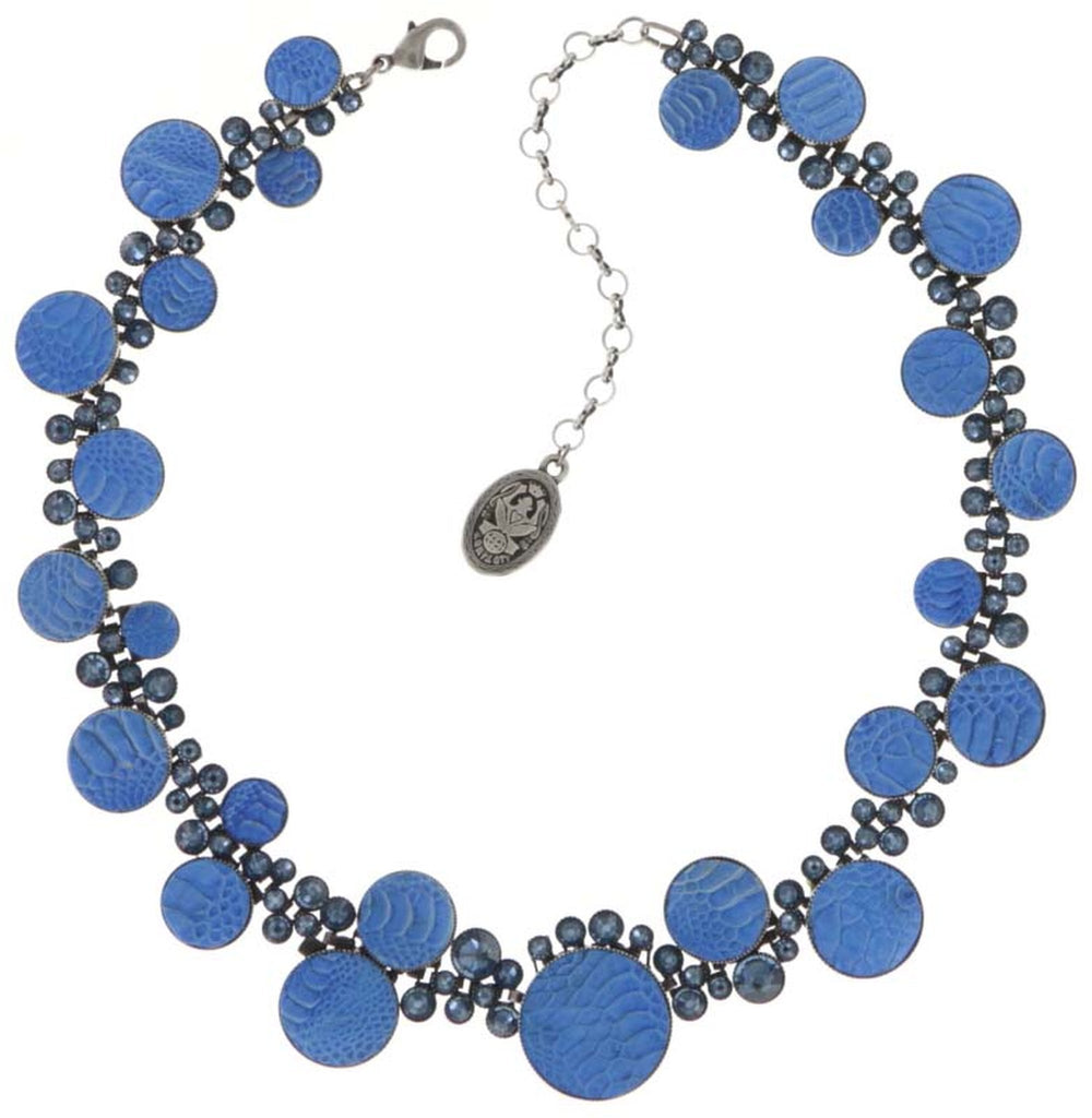 necklace Planet River dark blue antique silver