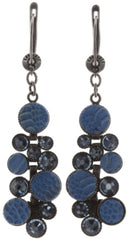 earring dangling Planet River dark blue antique silver