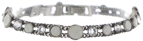 bracelet Planet River white antique silver