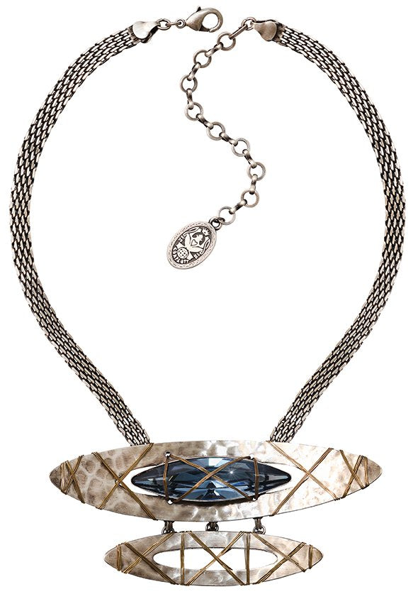 necklace Mad Max blue antique silver