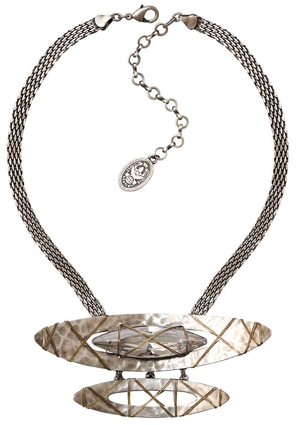 necklace Mad Max white antique silver