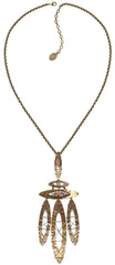 necklace (long) Mad Max beige antique brass