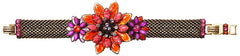 bracelet Psychodahlia orange/lila antique brass medium, extra small