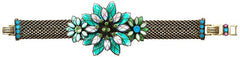 bracelet Psychodahlia blue/green antique brass medium, extra small