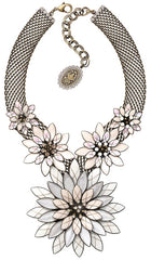 necklace Psychodahlia white antique brass extra large, medium, small