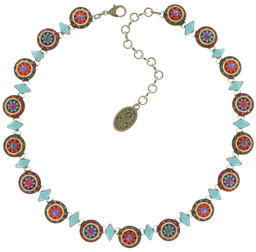 necklace Oriental Bliss multi antique brass