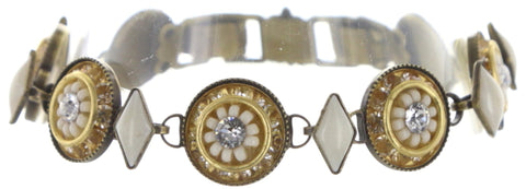 bracelet Oriental Bliss white antique brass