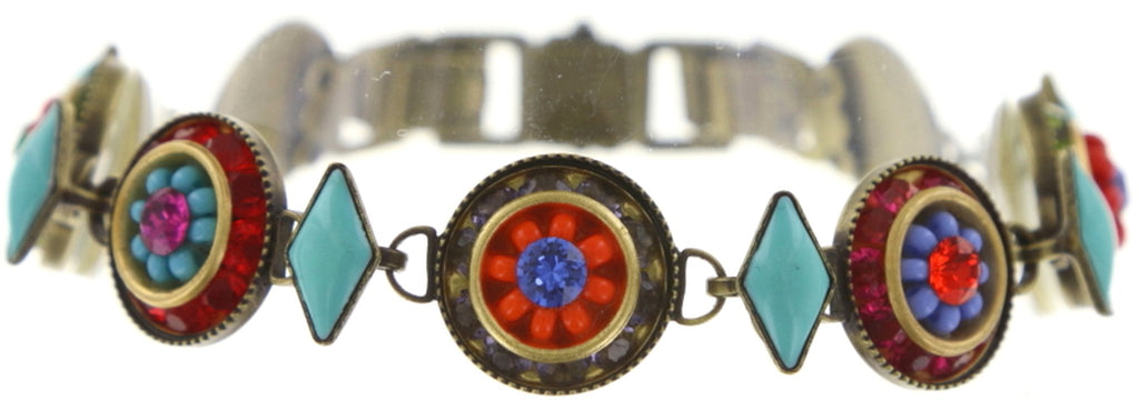 bracelet Oriental Bliss multi antique brass