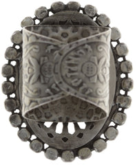 ring Sinners and Saints white antique silver medium