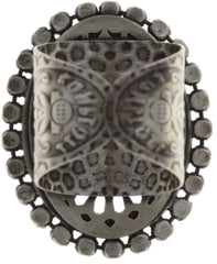 ring Sinners and Saints black antique silver medium