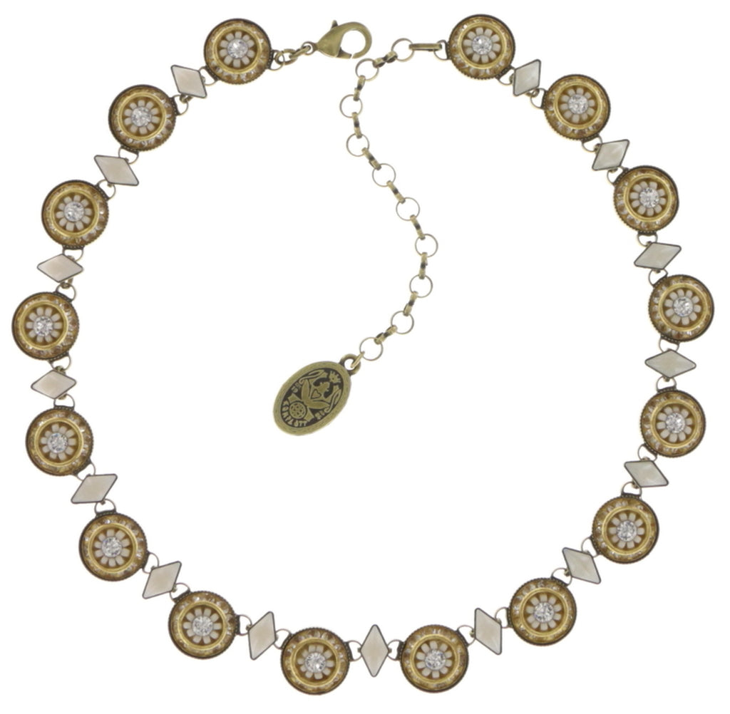 necklace Oriental Bliss white antique brass