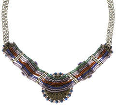 necklace African Glam multi/green antique brass