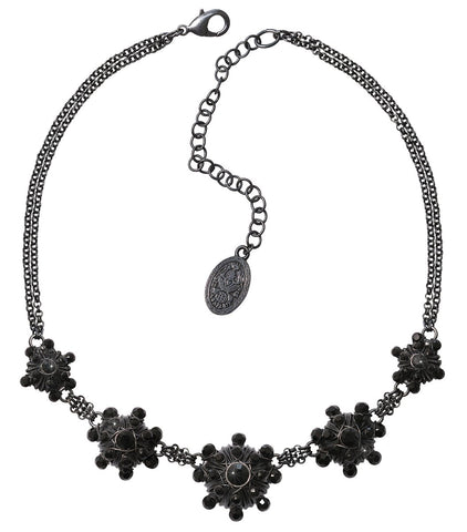necklace Oriental Architecture black dark antique silver