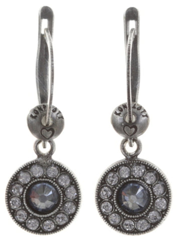 earring dangling Spell on You blue/grey antique silver