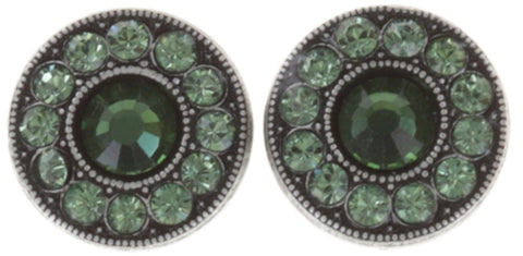 earring stud Spell on You dark green antique silver