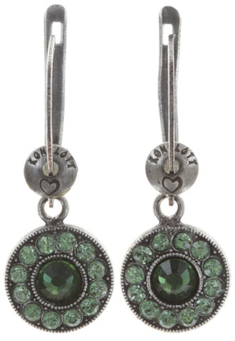 earring dangling Spell on You dark green antique silver