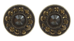 earring stud Spell on You khaki/brown antique brass