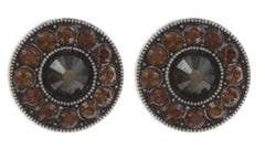 earring stud Spell on You dark brown antique silver