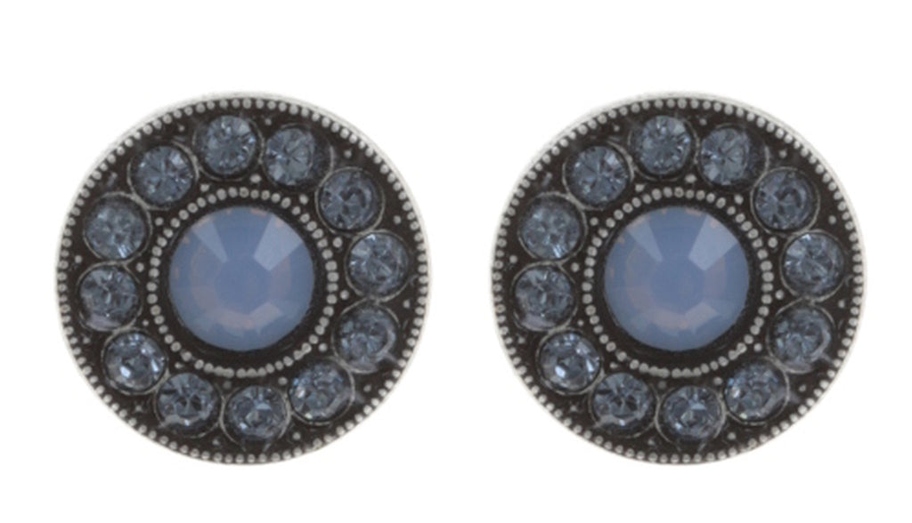 earring stud Spell on You light blue antique silver