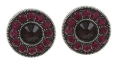earring stud Spell on You red antique silver
