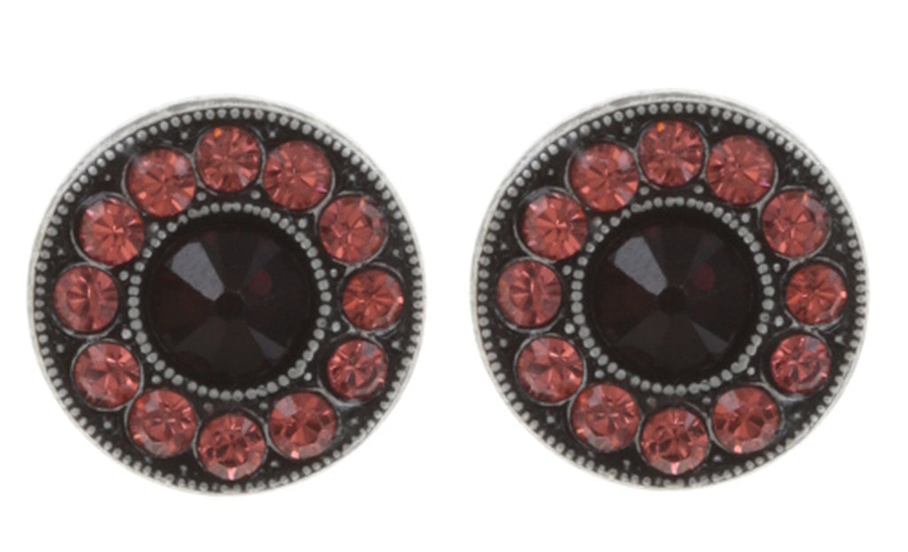 earring stud Spell on You red/pink antique silver