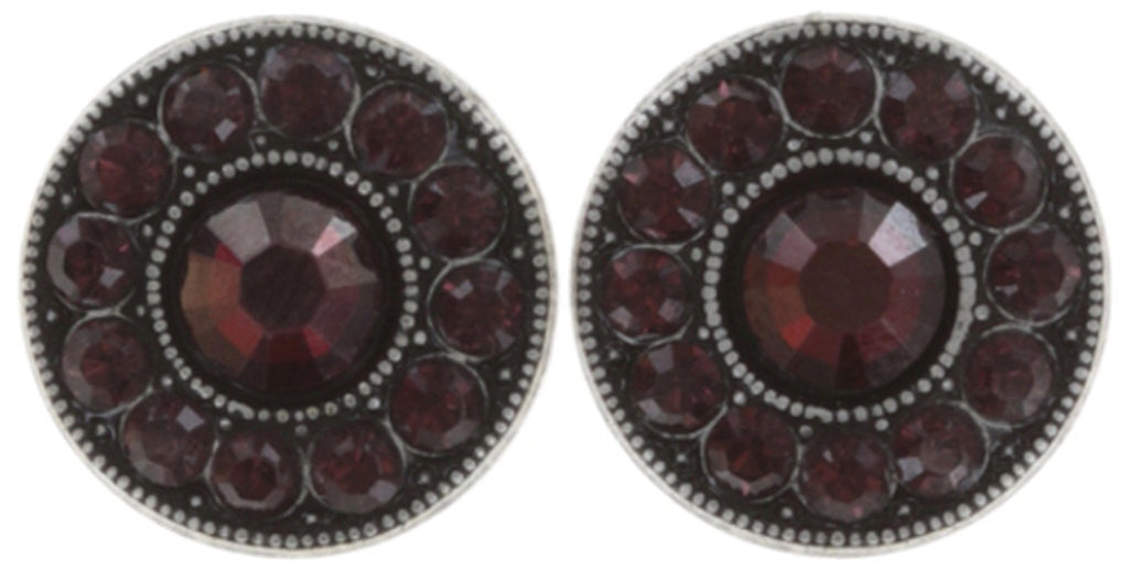 earring stud Spell on You dark red antique silver