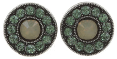 earring stud Spell on You green antique silver