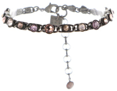 bracelet Waterfalls beige/pink antique silver