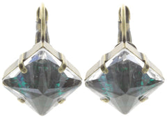 earring eurowire Iceberg De Luxe green antique brass