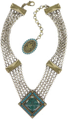 necklace Iceberg De Luxe green antique brass