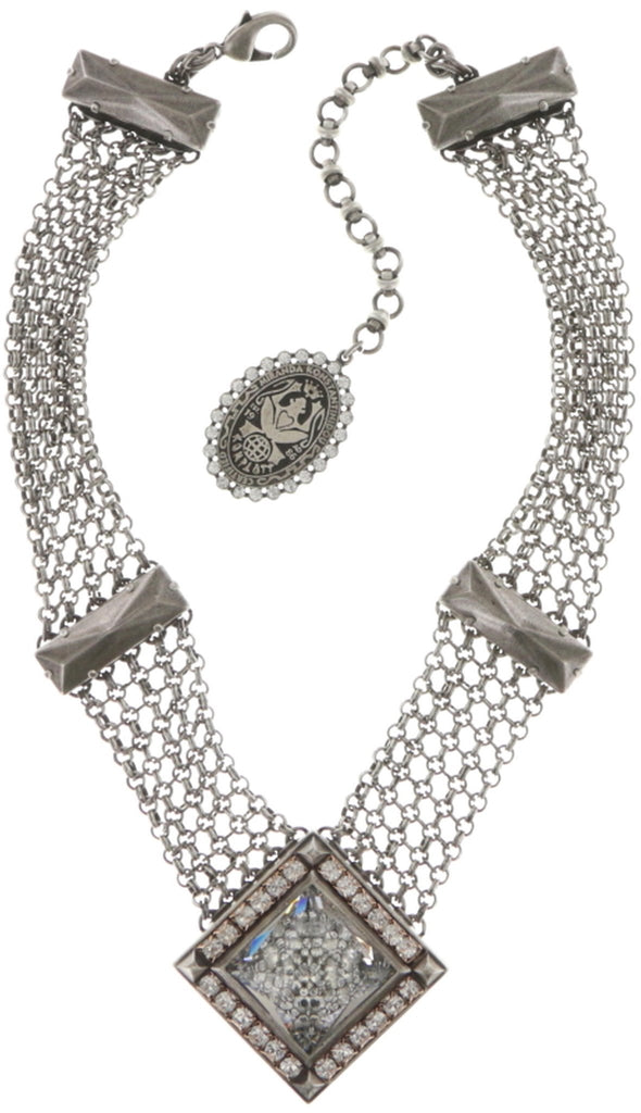 necklace Iceberg De Luxe white antique silver