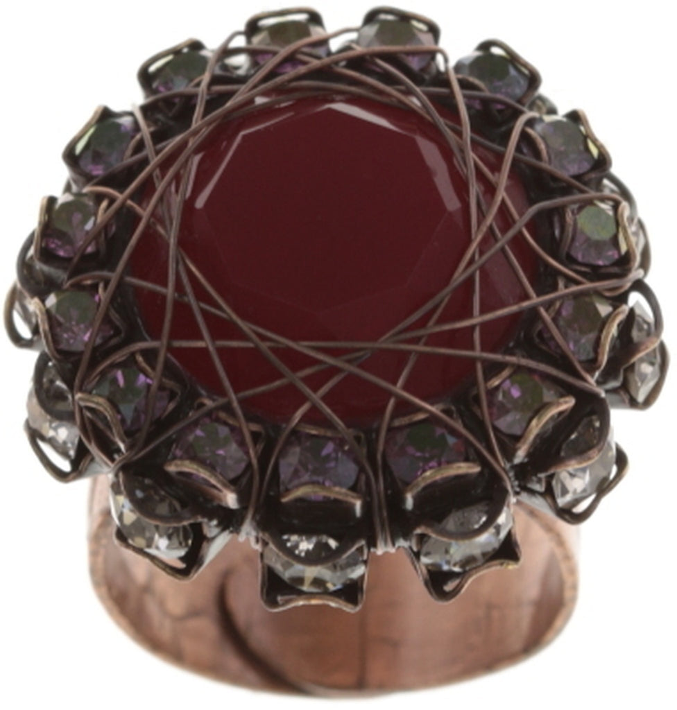ring In Honor of the Rose red antique copper