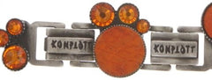 bracelet Planet River orange antique silver