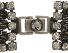 bracelet Rock 'n' Glam white antique silver
