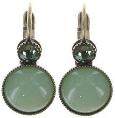 earring eurowire Alien Caviar green antique brass