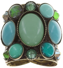 ring Alien Caviar green antique brass