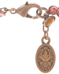 anklet Alien Caviar pink/orange antique copper