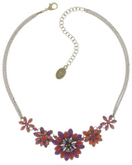 necklace Psychodahlia orange/lila antique brass small, extra small, smallest