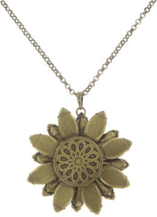 necklace pendant Psychodahlia blue/lila antique brass medium