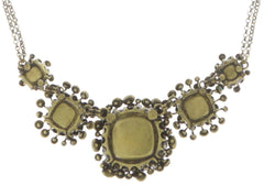 necklace Alien Caviar yellow/multi antique brass