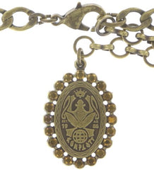 necklace Queen of Elves brown antique brass