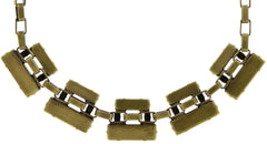 necklace Manhattan Rocks beige antique brass