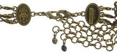 necklace collier Arabic Nights black/green antique brass