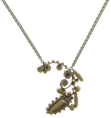 necklace pendant La Maitresse multi/green antique brass