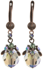 earring dangling La Maitresse multi antique copper